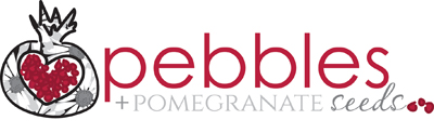 Pebbles + Pomegranate Seeds Logo