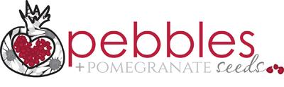 Pebbles + Pomegranate Seeds Logo